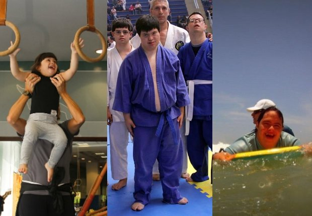 Ginástica artística, artes marciais e surfe estão entre esportes recomendados para pessoas com síndrome de Down