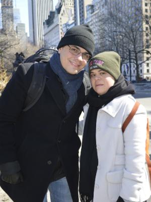 Frederico e a irmã Débora Crédito da foto: Acervo pessoal