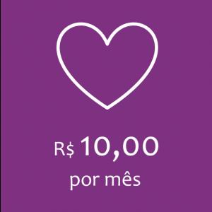 Doação - R$ 10,00 por mês