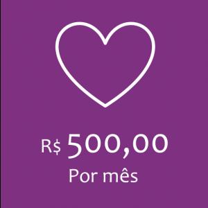 COTA MENSAL - R$500,00