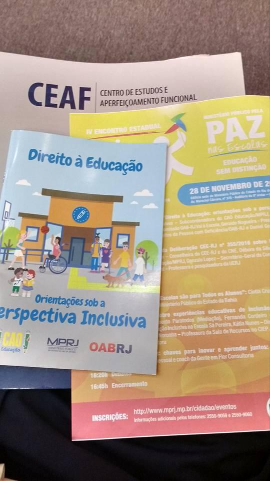 Ministério Público e OAB RJ lançam publicação com orientações sobre educação inclusiva