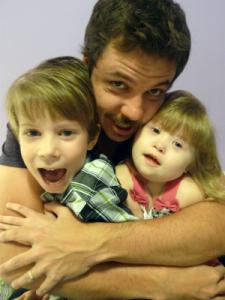 João com Tom e Luna. Foto: arquivo pessoal