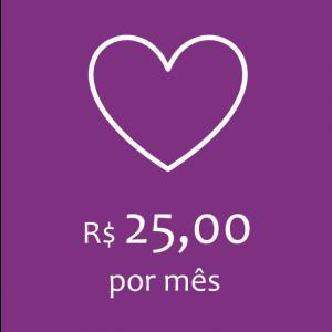 Doação - R$ 25,00 por mês