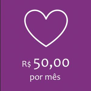 Doação - R$ 50,00 por mês