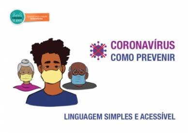 """Lançamento do guia """"Coronavírus – como prevenir. Linguagem simples e acessível.""""."""